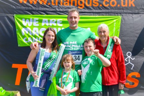 Simon Haig and family.  Simon was one of the members of Team Macmillan.  Credit John Dempsey - Montrose Images